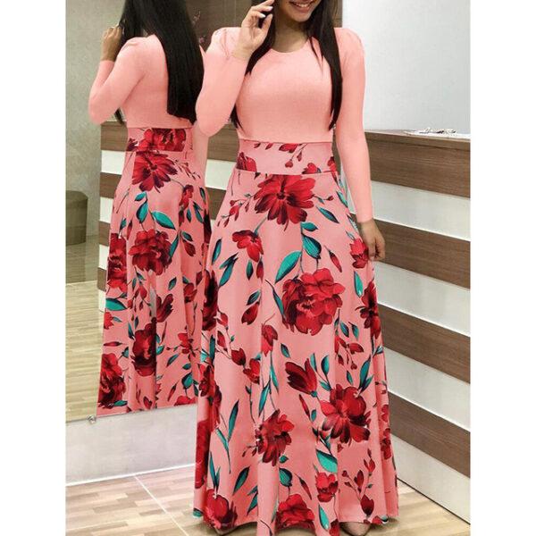 Maxi Dress Bohemian Print 4XL 5XL Plus Size Boho Summer Robe Women Dress  Elegant Long Dresses Beach Clothes Vestidos