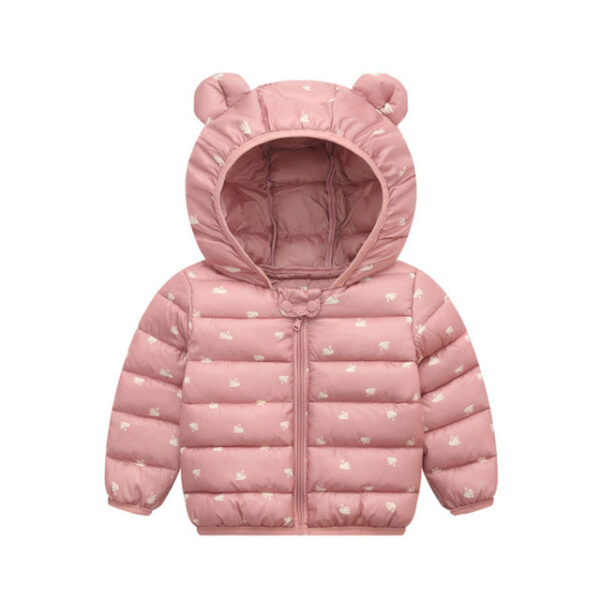 US Toddler Kid Baby Boy Girl Bear Hooded Coat Thick Jacket Winter Outwear