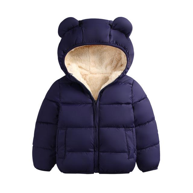 Princess Kids Baby Girl Hooded Trench Coat Winter Windbreaker Jacket Outerwear
