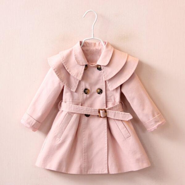 2019 Kids Baby Girls Trench Coat Jacket Dress Windbreaker Outerwear Autumn Dress